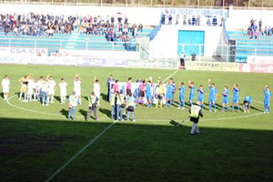 Andria Calcio ingresso in campo