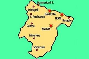 Mappa della provincia Bat