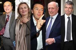 I candidati alle primarie del centrosinistra
