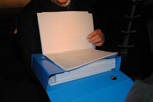 Il plico di firme