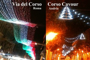 Folgorazioni natalizie Andria Roma
