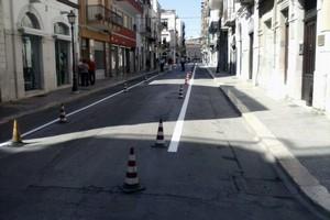 Via Regina Margherita: segnaletica orizzontale e chiusura a tratti