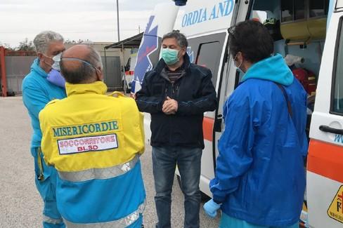 partita per Brescia una equipe sanitaria delle Misericordie