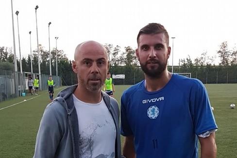 Il DS Fabio Moscelli con Daniel Paparusso, nuovo difensore Fidelis Andria