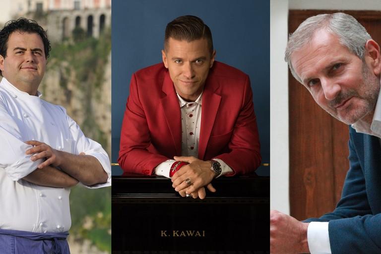 lo chef Gennaro Esposito, lo scrittore Gianrico Carofiglio e il musicista Matthew Lee