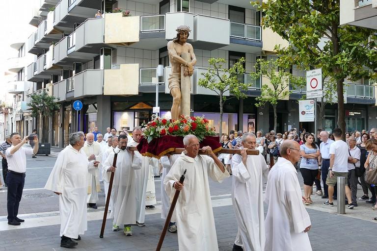 Messa solenne in onore del SS. Salvatore nella chiesa dell'Immacolata. <span>Foto Riccardo Di Pietro</span>