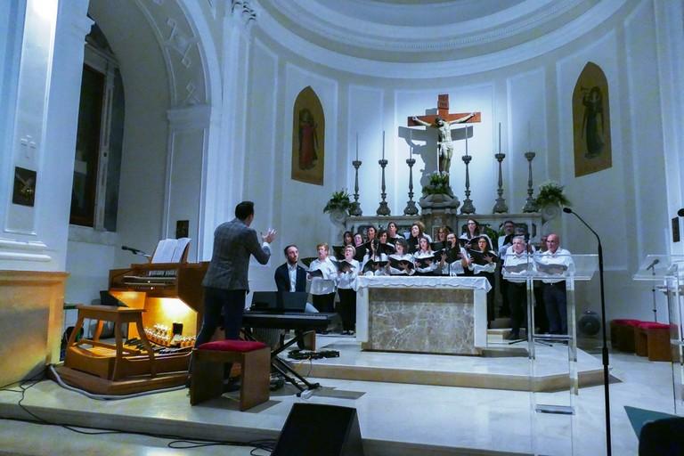 Si sono conclusi i festeggiamenti del 70° anniversario della Parrocchia Gesù Crocifisso. <span>Foto Riccardo Di Pietro</span>