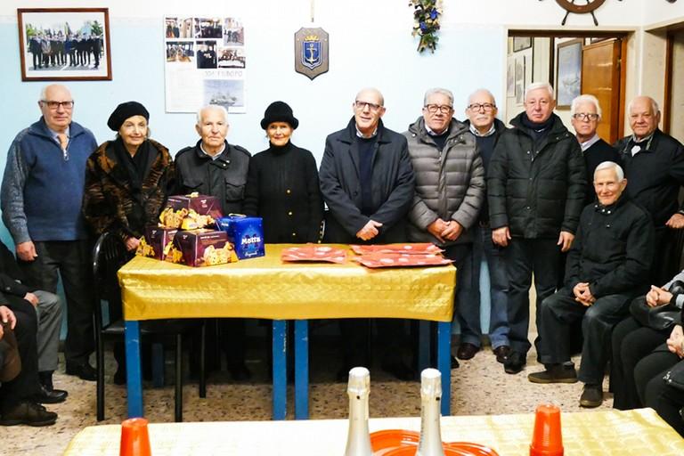 Auguri per le festività natalizie dall'Associazione Nazionale Marinai d'Italia di Andria (Foto Riccardo Di Pietro)