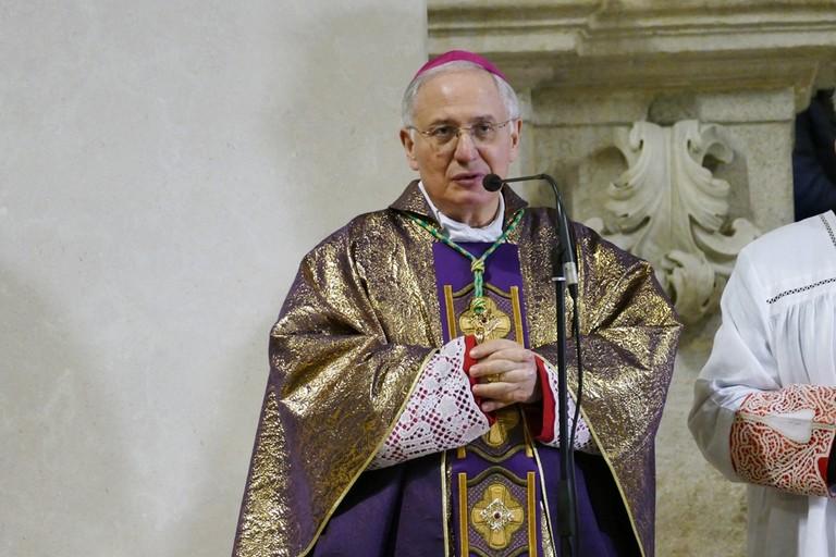 Celebrazione del  III anniversario dell'ordinazione episcopale del Vescovo di Andria Mons. Luigi Mansi. <span>Foto Riccardo Di Pietro</span>