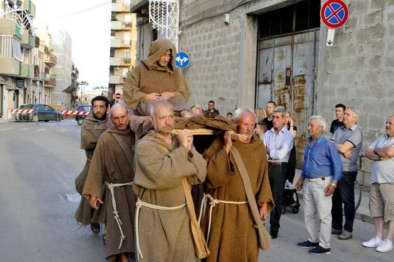 """Straordinaria """"Rievocazione storica del Transito di Sant'Antonio"""". <span>Foto Riccardo Di Pietro</span>"""