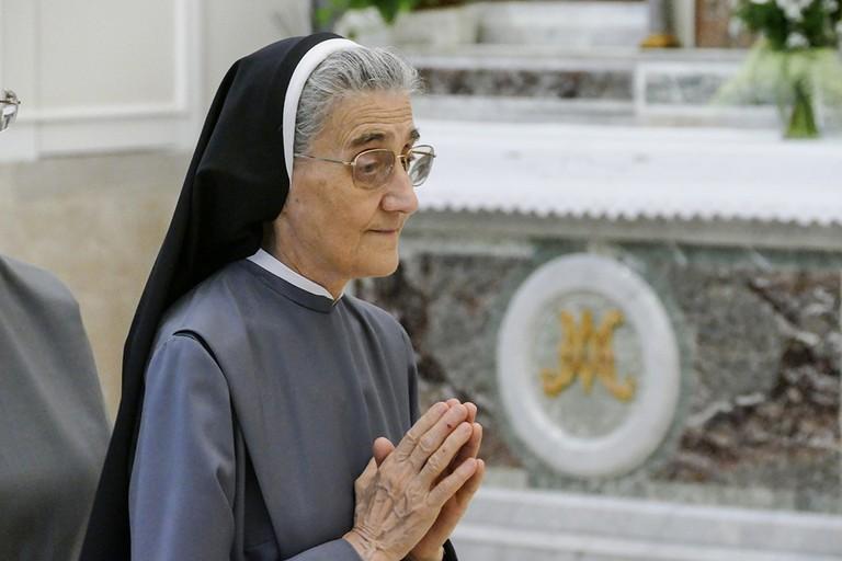 50 anni di fedeltá al Signore di Suor Maria Teresa Casiero madre Superiora provinciale delle suore  Betlemite. <span>Foto Riccardo Di Pietro</span>