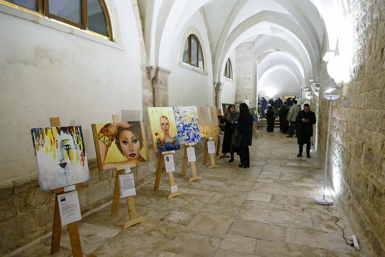 """Grande successo per la  collettiva """" Fidelis Arte"""". <span>Foto Riccardo Di Pietro</span>"""