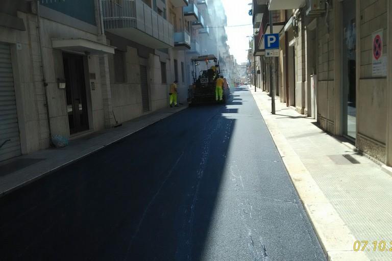 Lavori stradali da parte dell'AndriaMultiservice