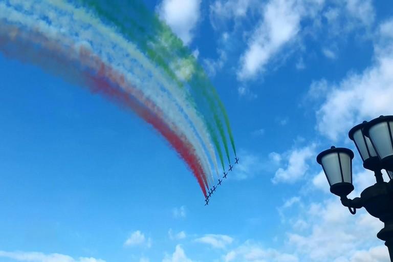 Frecce Tricolori nel cielo di Bari
