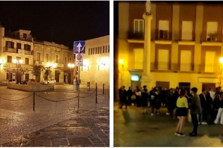 Piazza Duomo durante il lockdown e dopo JPG
