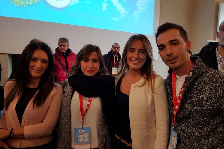 I giovani del Pd andriese con Pina Piceno e Maria Elena Boschi