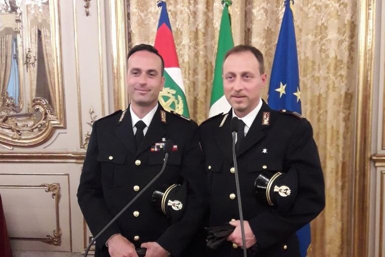I due poliziotti omaggiati a Roma