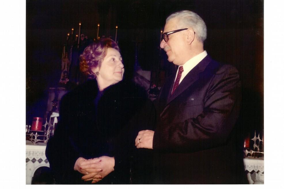 Il Preside Fuzio con l'amata moglie, sig.ra Italia Maria