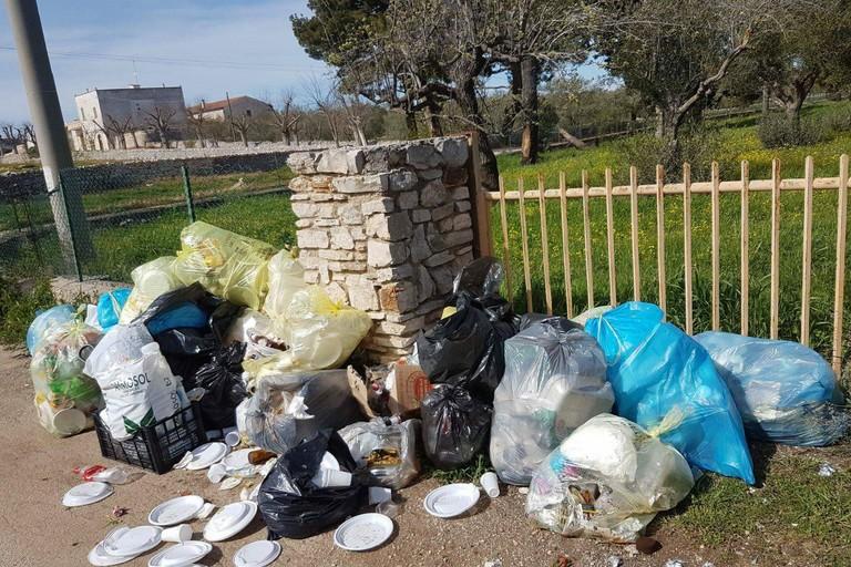 Immondizia ai piedi di Castel del Monte