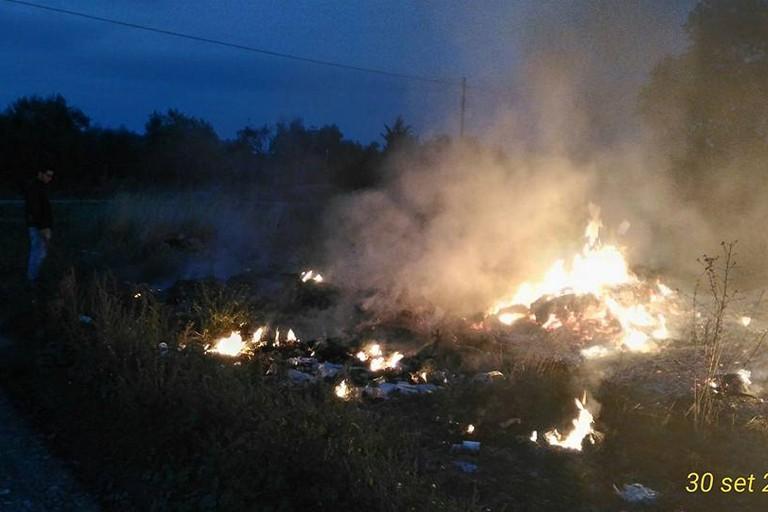incendio di rifiuti