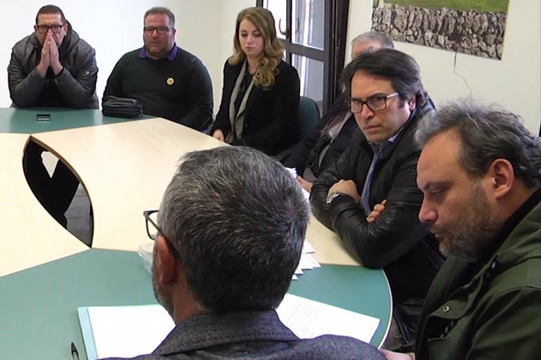 Savino Montaruli in Conferenza di Servizio al comune di Andria