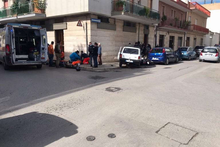 Incidente in Via Lissa all'intersezione con Via Custoza
