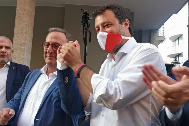 Matteo Salvini e Antonio Scamarcio