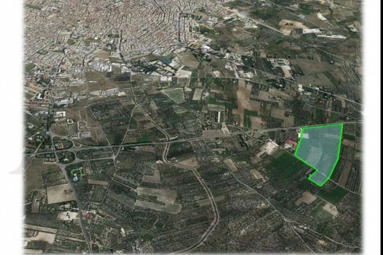 area su cui sorgerà il nuovo ospedale di Andria