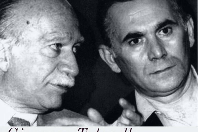 da sx Giorgio Almirante con Pinuccio Tatarella