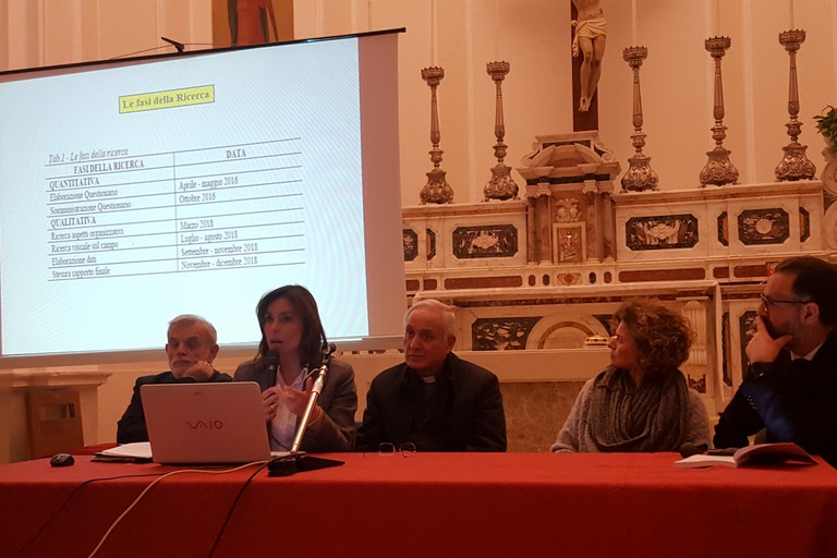 Tavolo dei relatori nella conferenza di presentazione del Volume Andria Misericors
