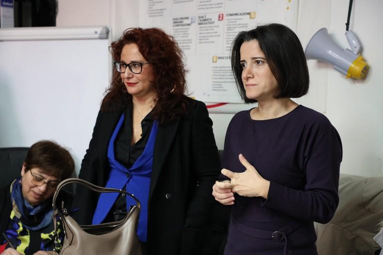 da sx Grazia Di Bari ed Antonella Laricchia
