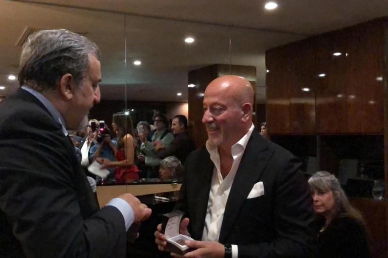 Michele Emiliano con Domenico Vacca