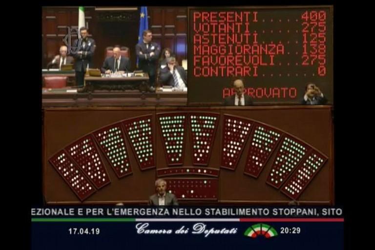 votazione alla Camera dei Deputati