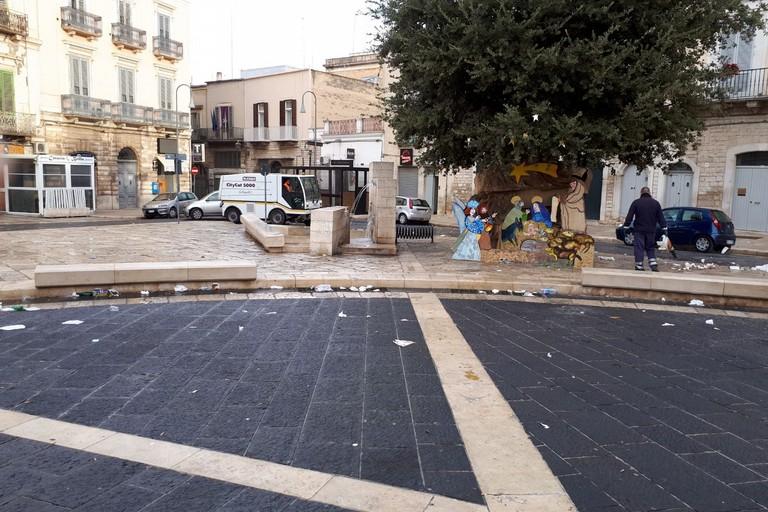 Piazza Catuma, rifiuti