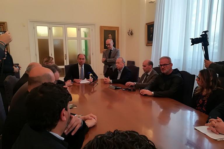 Conferenza stampa Giorgino e maggioranza