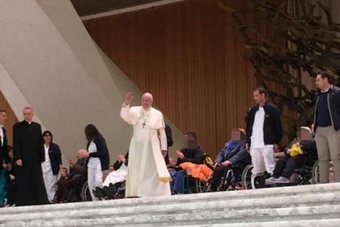 Rsa Madonna della Pace dal Papa