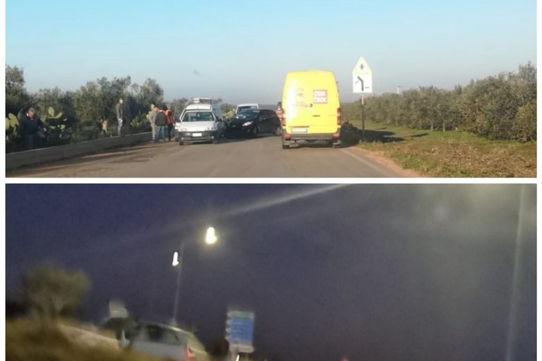 Incidenti stradali sulle provinciali della Bat