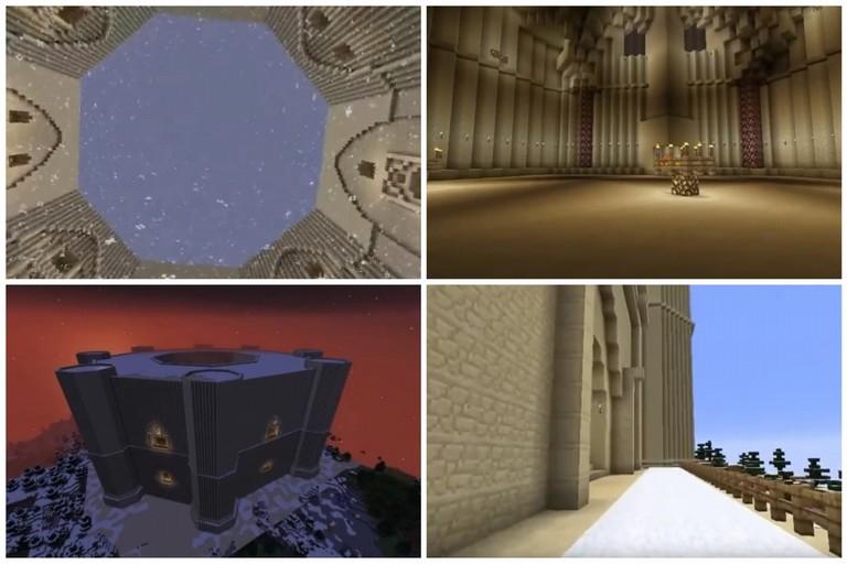 Castel del Monte con Minecraft