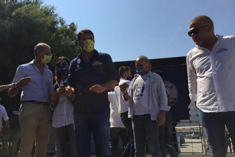 Matteo Salvini in Largo Appiani ad Andria. <span>Foto Antonio D'Oria</span>