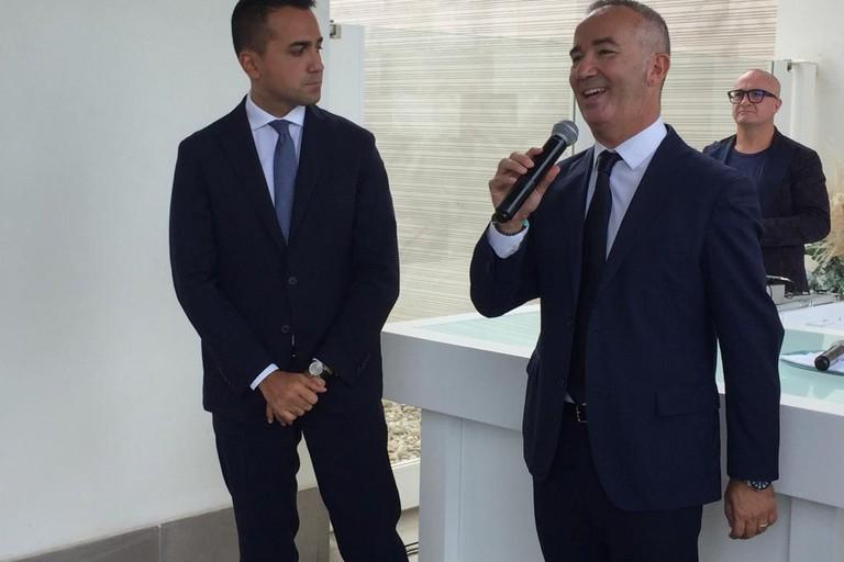 Il Ministro Luigi Di Maio a sostegno del candidato sindaco Michele Coratella. <span>Foto Antonio D'Oria</span>