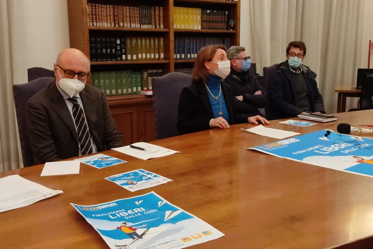 Conferenza stampa sugli accertamenti tributari. <span>Foto Antonio D'Oria</span>