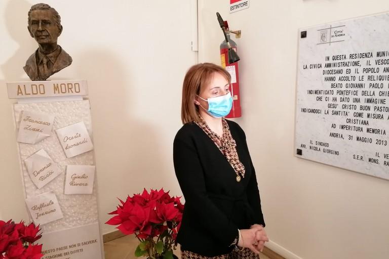 Il sindaco Giovanna Bruno
