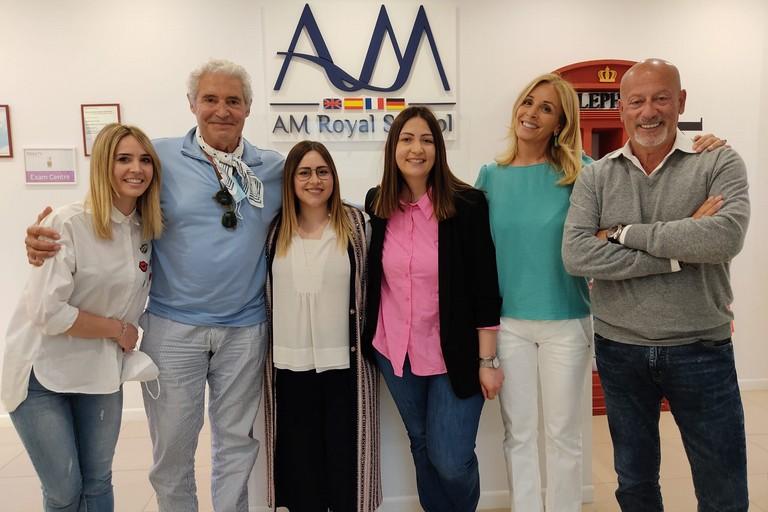 L'attore Michael Nouri e lo stilista Domenico Vacca ospiti alla Royal School di Andria. <span>Foto Antonio D'Oria</span>