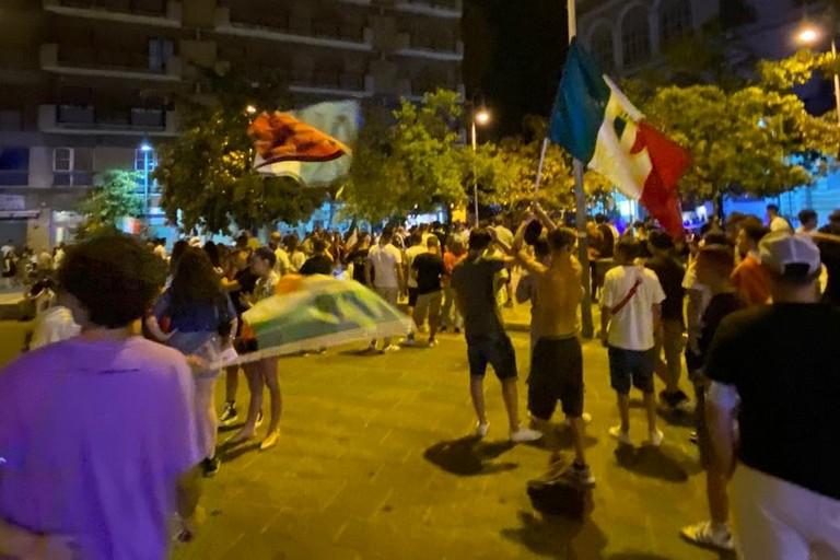 Festa ad Andria per la vittoria dell'Italia all'Europeo