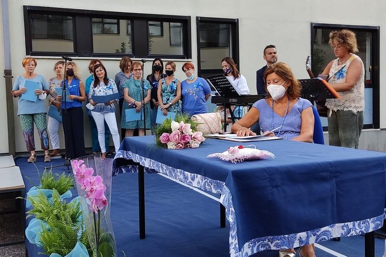 Cerimonia di pensionamento della dirigente Celestina Martinelli. <span>Foto Antonio D'Oria</span>