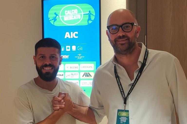 Giacomo Tulli con il DS Alessandro Degli Esposti